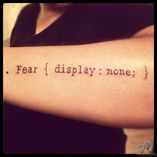 CSS Coder Geek Tattoo... Win Or Fail?