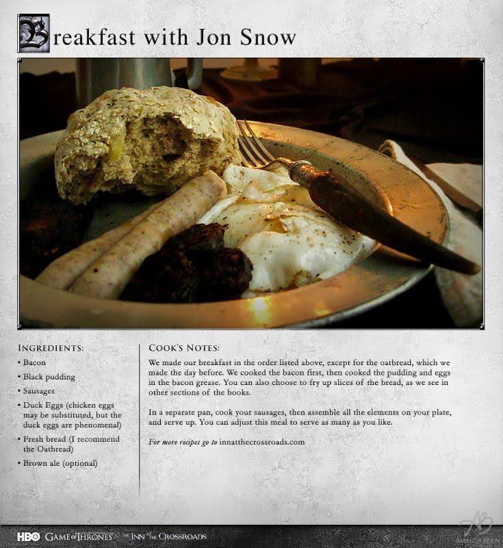 YUM! Game Of Thrones Recipes